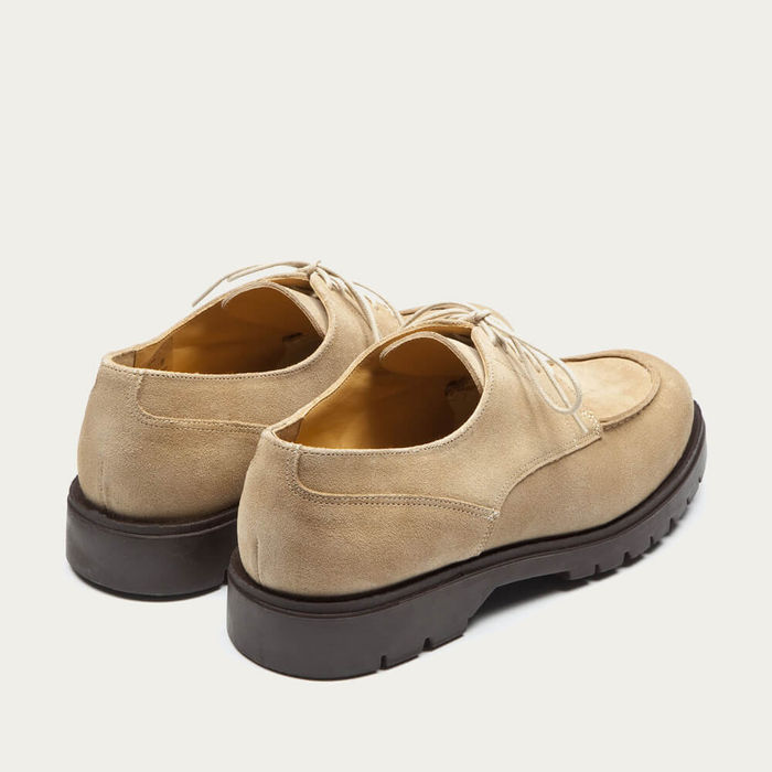 Beige/Brown Frodan V Suede Leather Derby | Bombinate