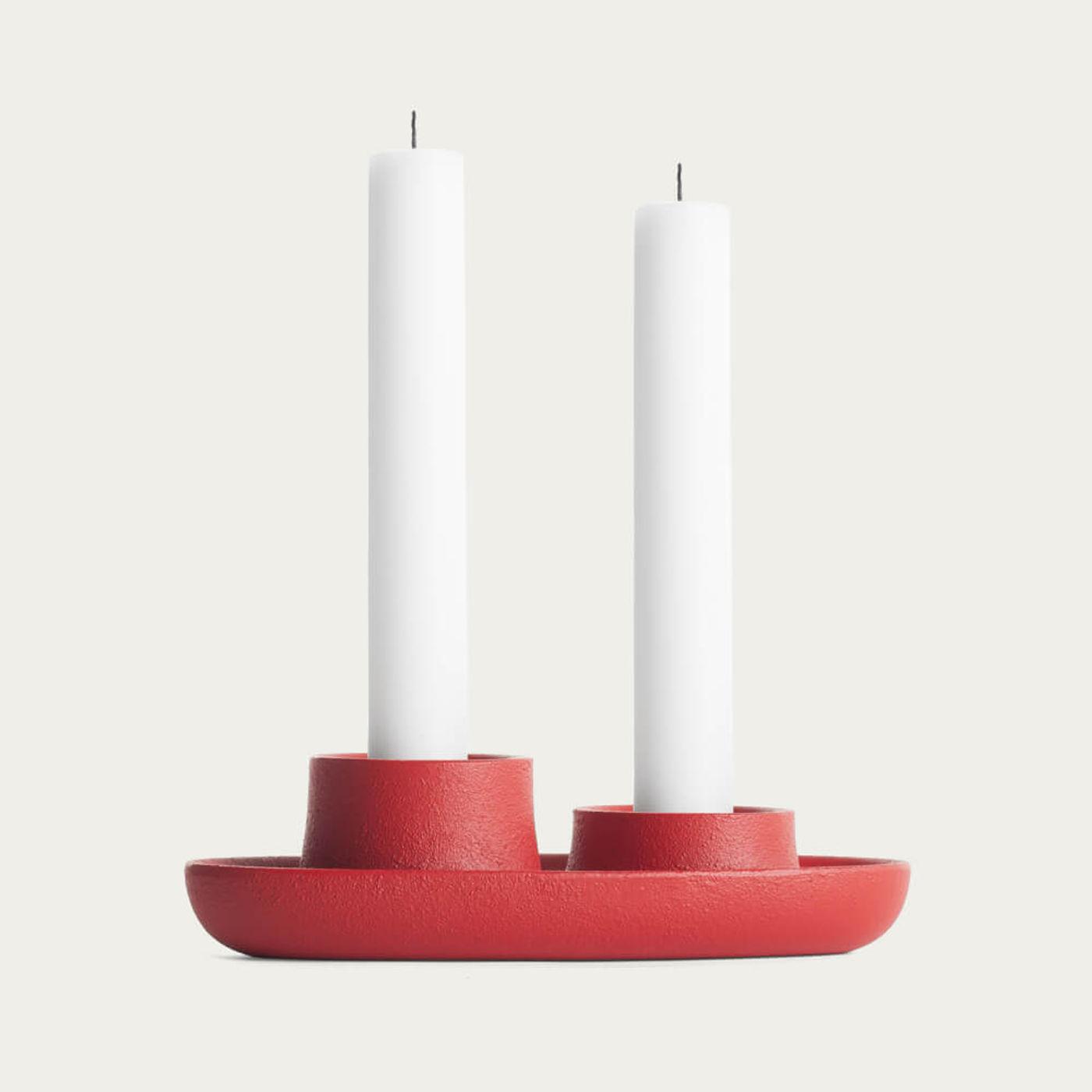 Red 2 Funnel Aye Aye! Candle Holder   Bombinate