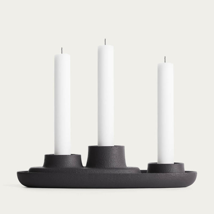 Black 3 Funnel Aye Aye! Candle Holder   Bombinate