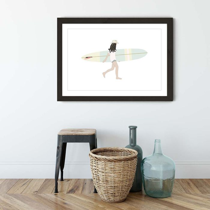 Summer Solstice Art Print Black Frame | Bombinate