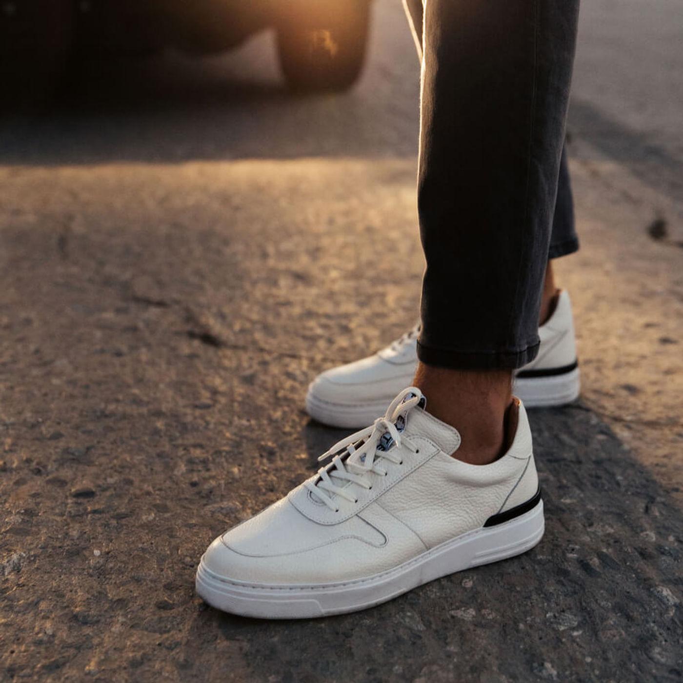 White Ritchie Leather Sneaker   Bombinate