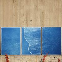 Calm Costa Rica Shore Handmade Cyanotype Art Print | Bombinate