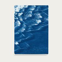 Rolling Waves off Sidney Handmade Cyanotype Art Print   Bombinate