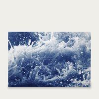 Tempestuous Tidal in Blue Handmade Cyanotype Art Print | Bombinate
