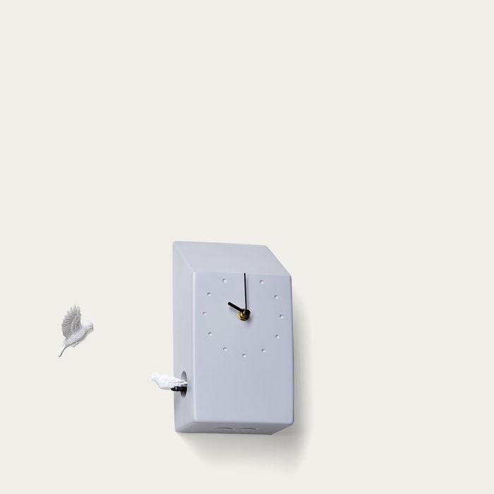 Grey Cuckoo Home Clock | Bombinate