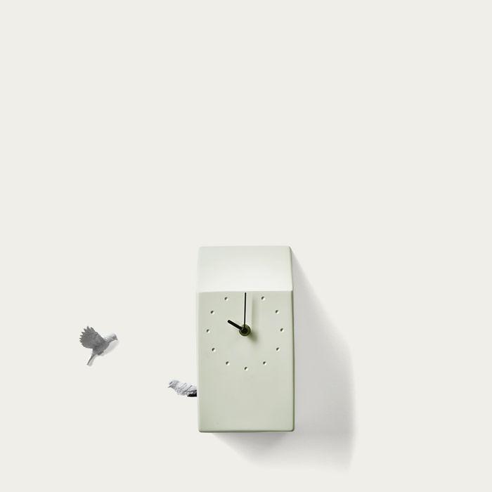 Green Cuckoo Home Clock | Bombinate