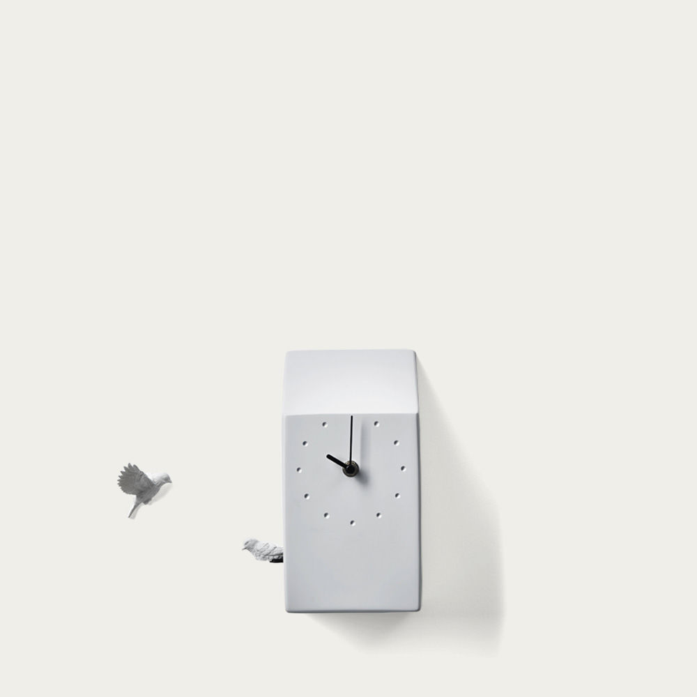 Grey Cuckoo Home Clock | Bombinate