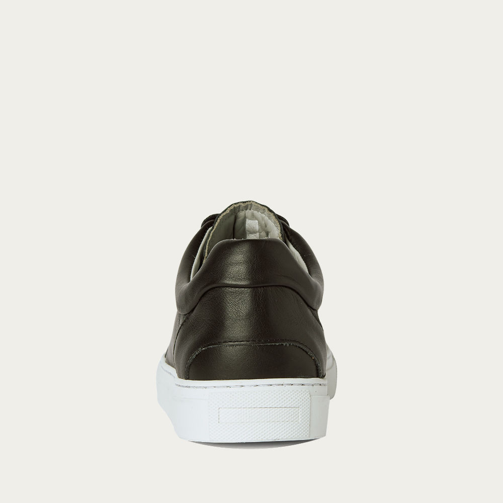 No-2 Black Leather Sneakers | Bombinate