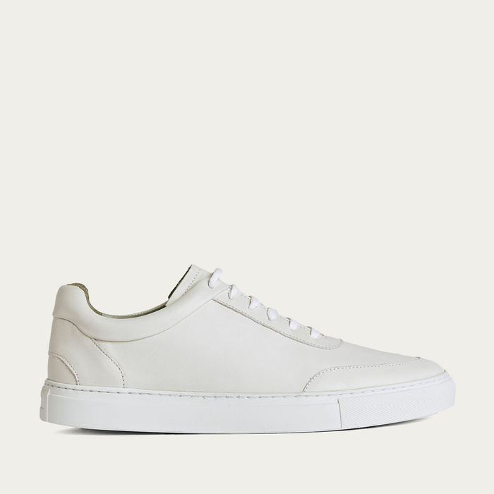 No-2 All White Leather Sneakers | Bombinate