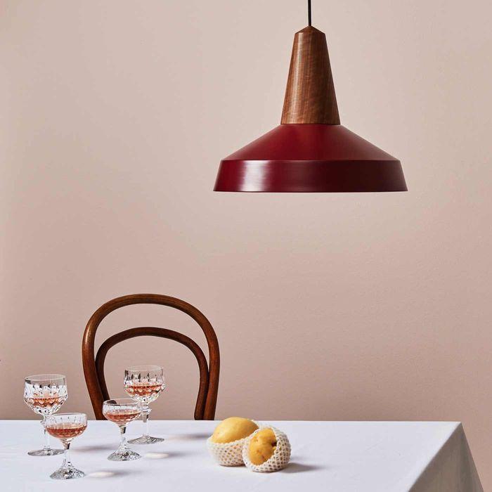Burgundy Eikon Circus Black Oak Lamp | Bombinate
