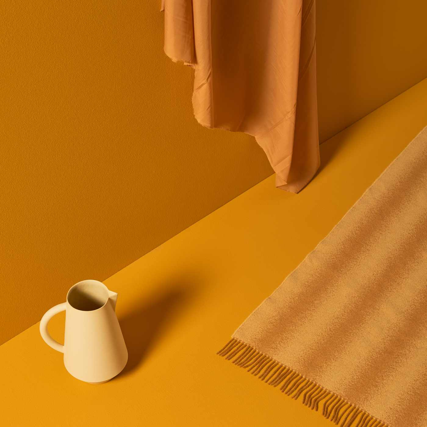 Yellow and Mustard and Blush Tide Blanket | Bombinate