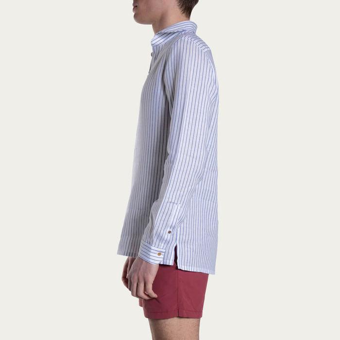Blu Camicia Capri Righe Shirt   Bombinate