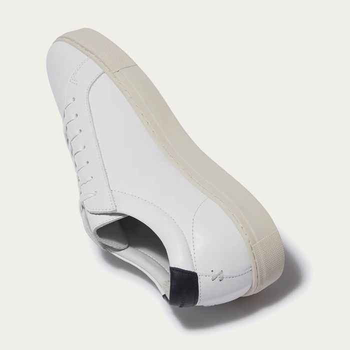 White Vintage Series 1 Leather Sneakers | Bombinate