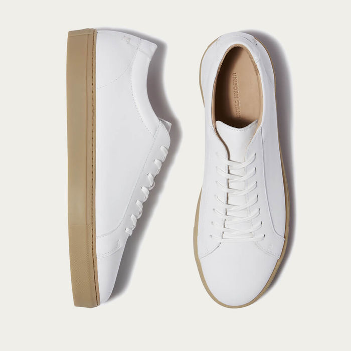 White Gum Series 1 Leather Sneakers | Bombinate