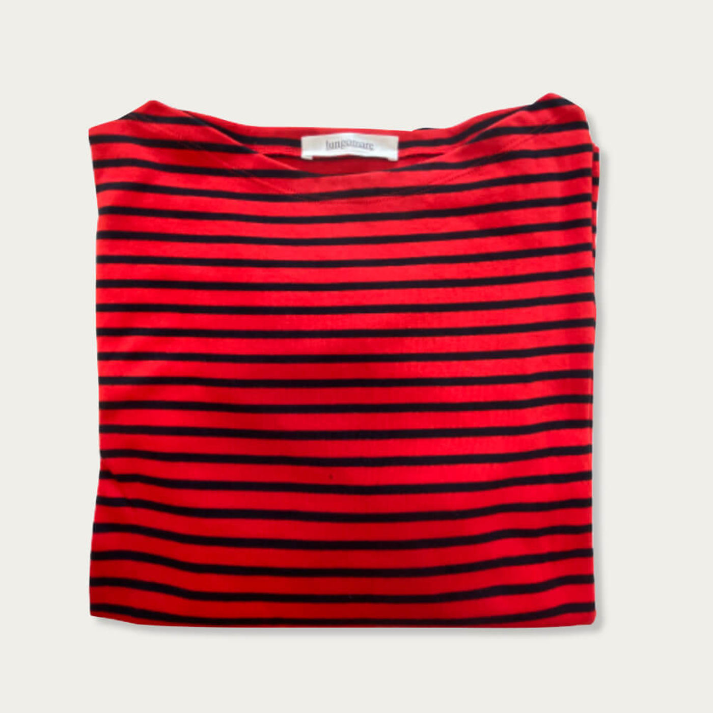 Red/Blue Gelsomina Cotton T-shirt | Bombinate