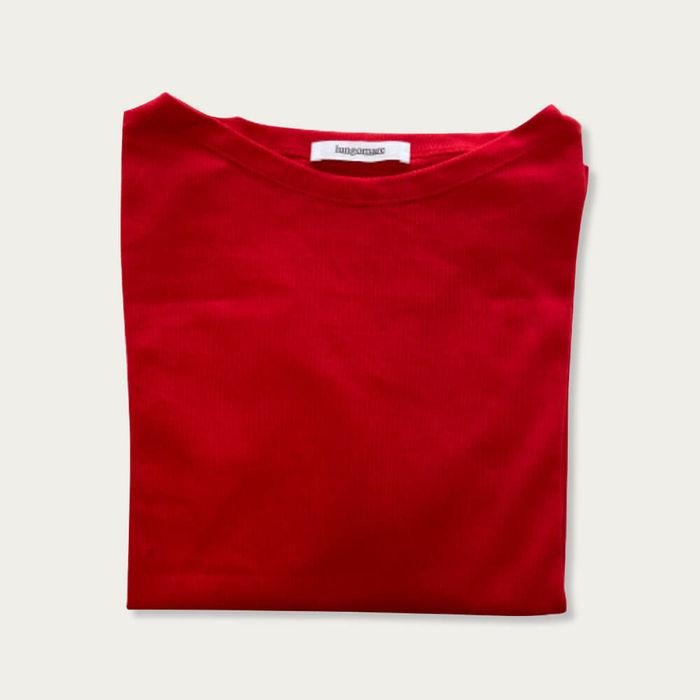 Red Titta Cotton T-shirt | Bombinate