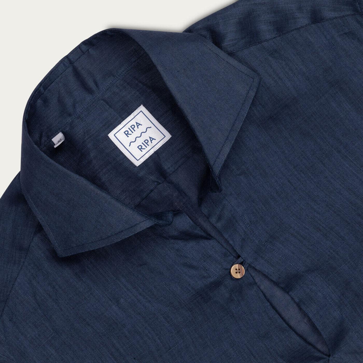 Camicia Capri Blu Notte Shirt   Bombinate