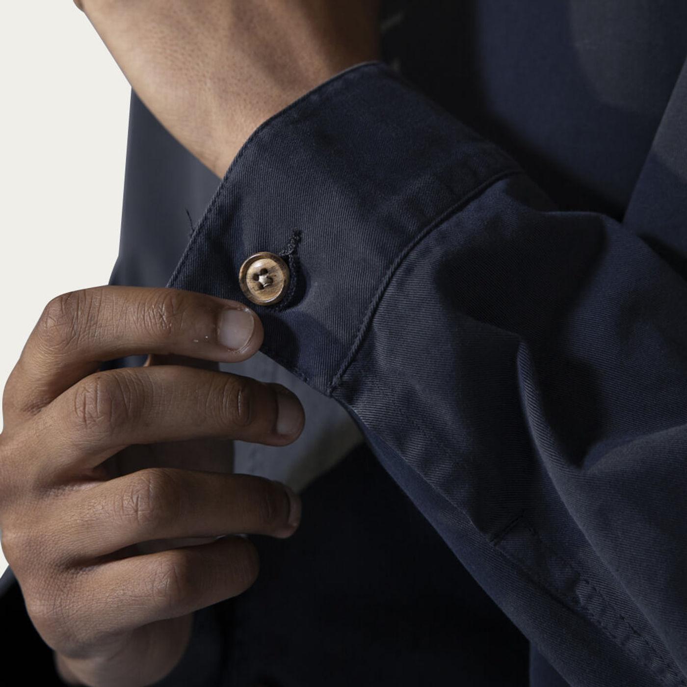 Blue Graphite Cotton Work Jacket | Bombinate