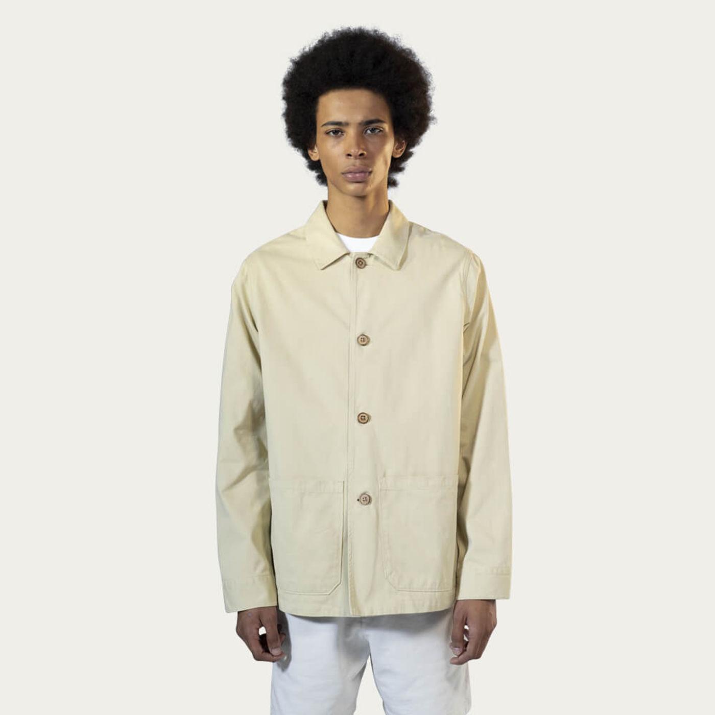 Khaki Cotton Work Jacket | Bombinate