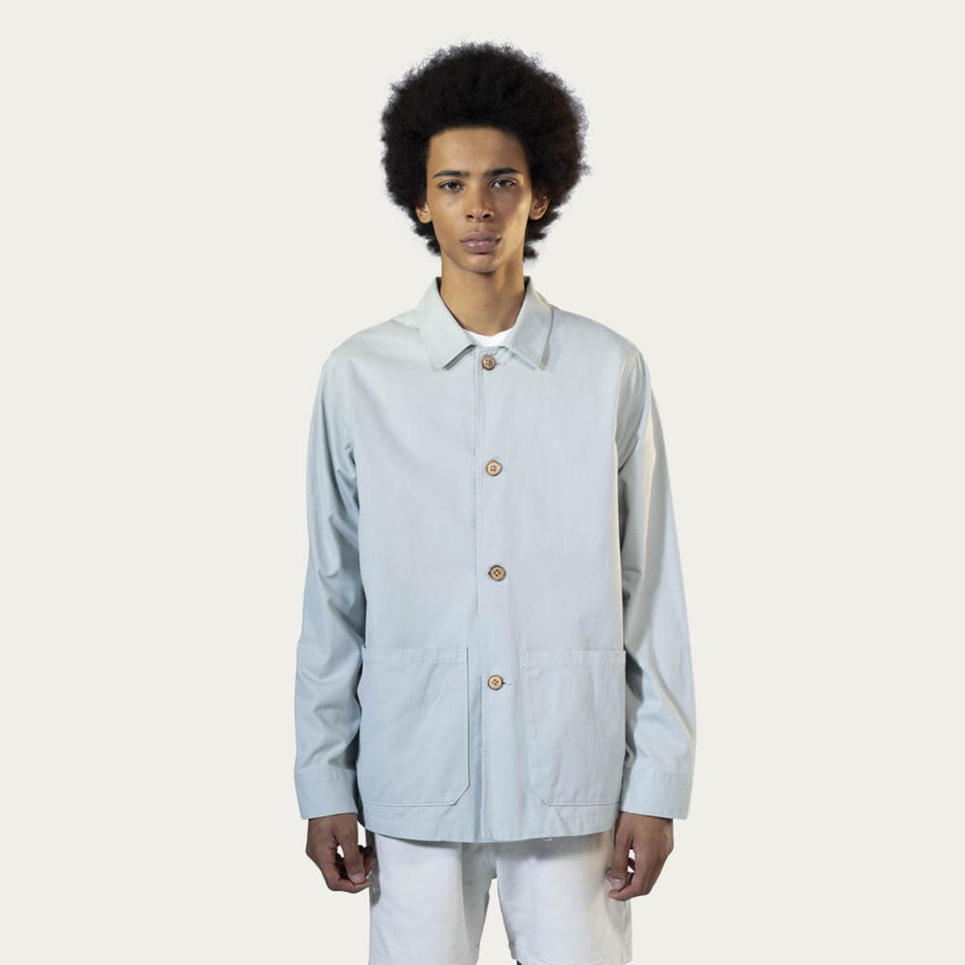 Puritan Grey Cotton Work Jacket | Bombinate