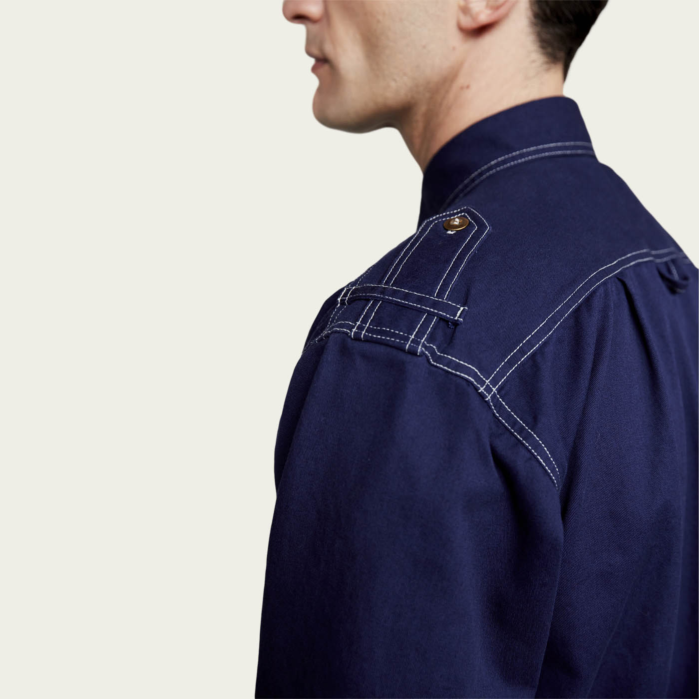 Bright Indigo Cotton Shirt Jacket  | Bombinate