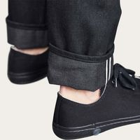 Black Japanese Salvedge Raw Denim Jeans  | Bombinate