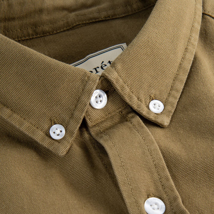 Olive Bear Canvas Shirt | Bombinate