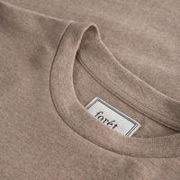 Beige Melange/Tan  Log T-Shirt | Bombinate