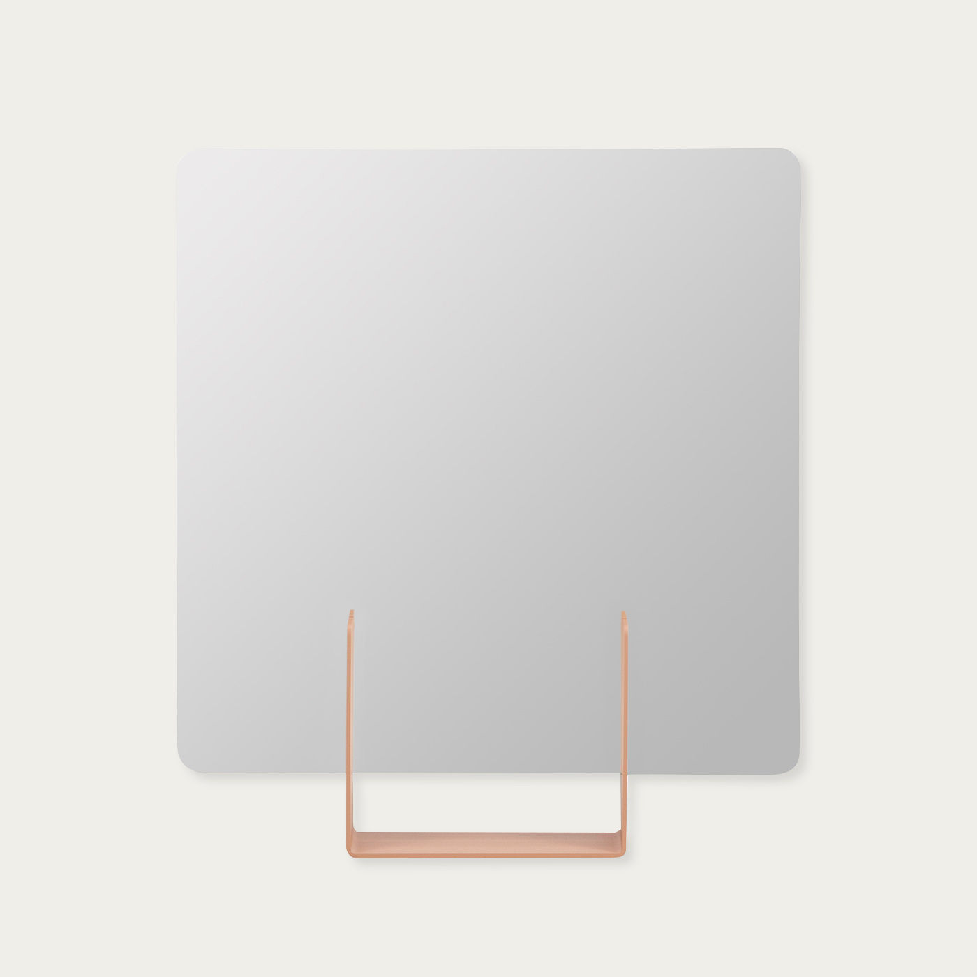 Red Brown Look Square Mirror | Bombinate