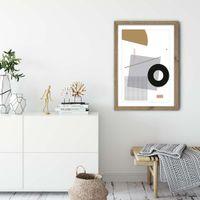 Minimal Geo 1 Art Print Oak Frame | Bombinate