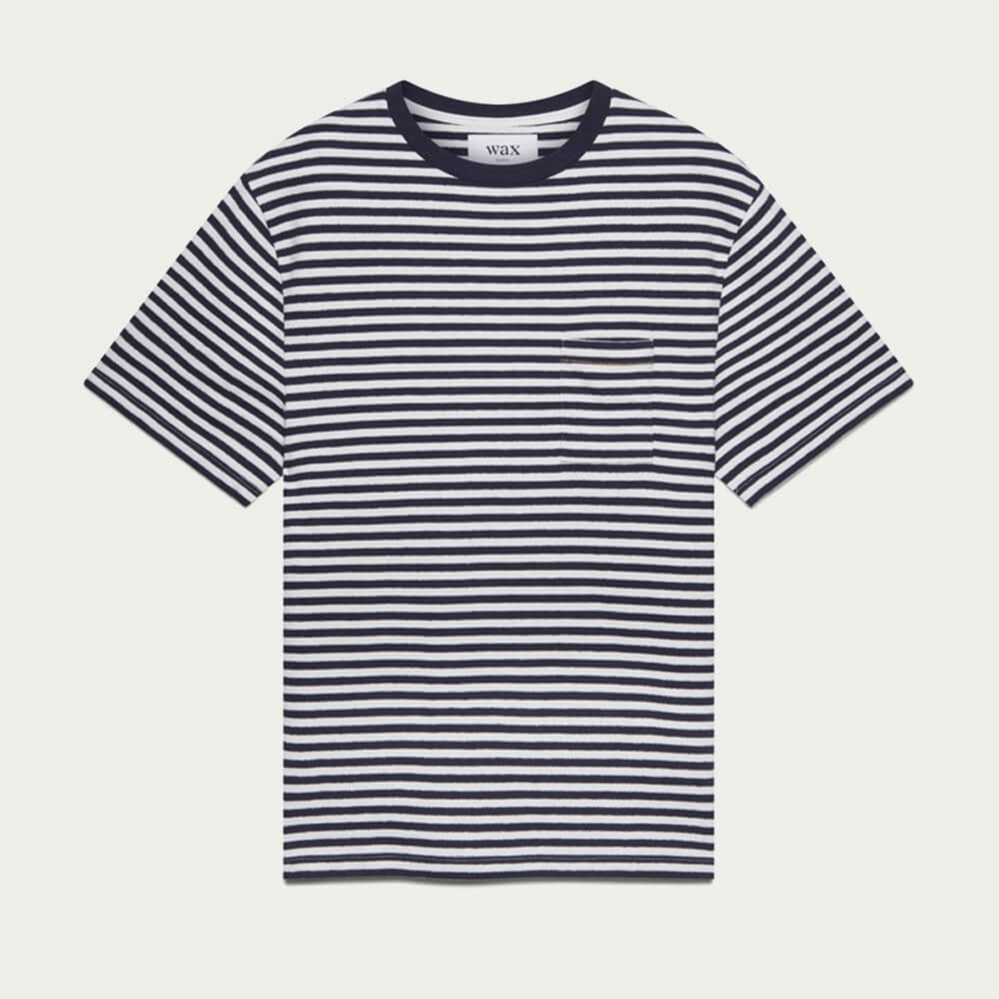 Navy/Ecru Dean Cotton T-Shirt | Bombinate