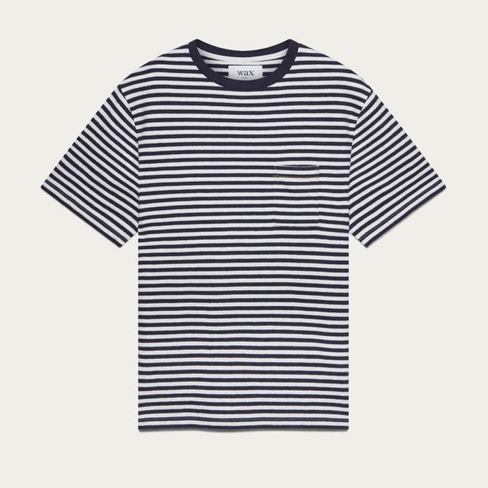 Navy/Ecru Dean Cotton T-Shirt   Bombinate