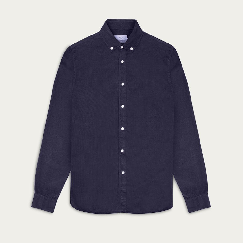 Deep Ocean BB Cord Bampton Casual Long Sleeve Shirt  | Bombinate