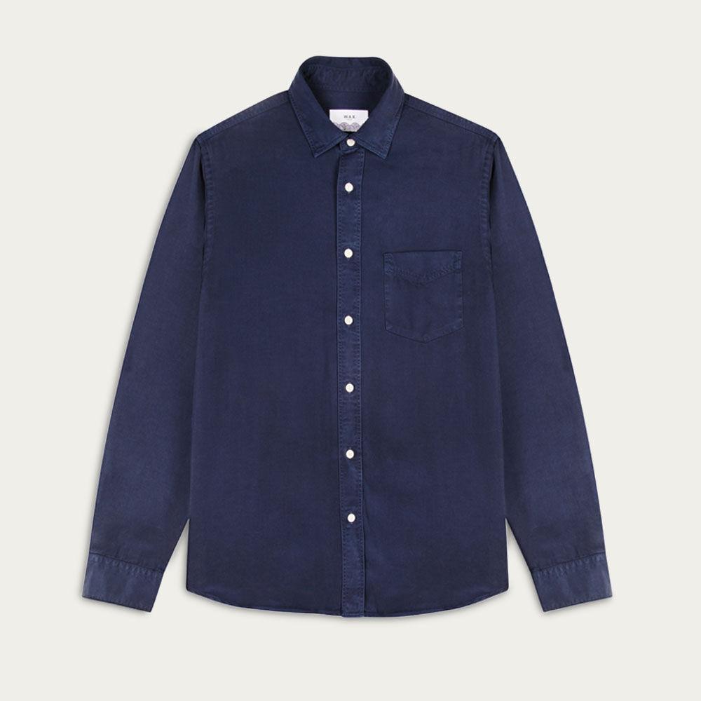 Deep Ocean Bassett Casual Long Sleeve Shirt  | Bombinate