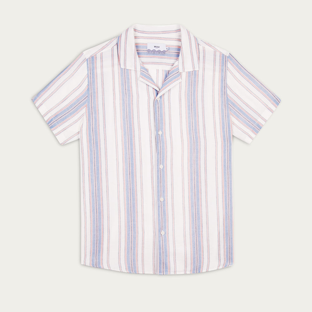 Vertical Stripes Didcot Casual Short Sleeve Shirt  | Bombinate