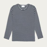 Navy/White Stripes Duval L/S T-shirt  | Bombinate