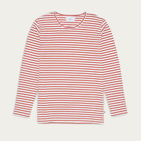 White/Orange Stripes Duval L/S T-shirt  | Bombinate