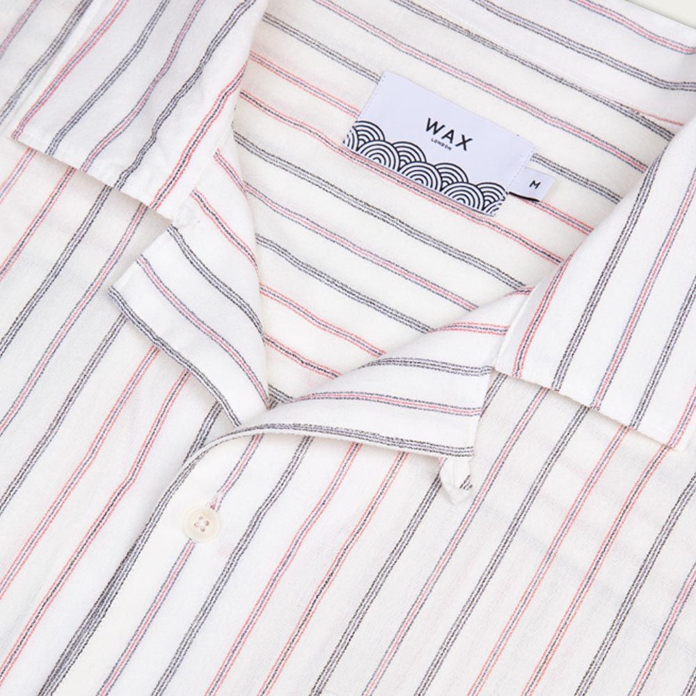 Cheese Cloth Stripe Fazely Casual Short Sleeve Shirt  | Bombinate