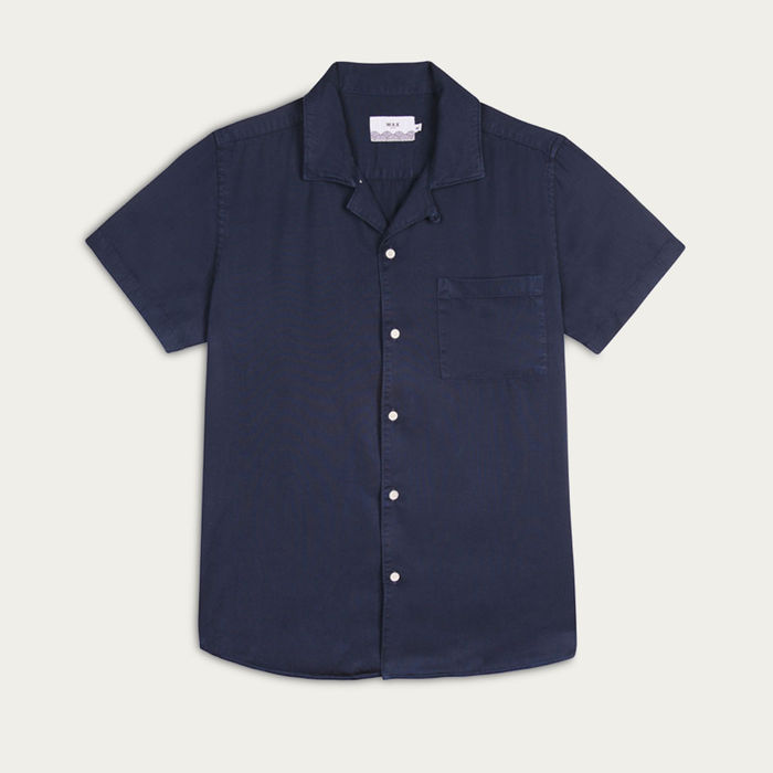 Deep Ocean Fazely Casual Short Sleeve Shirt  | Bombinate