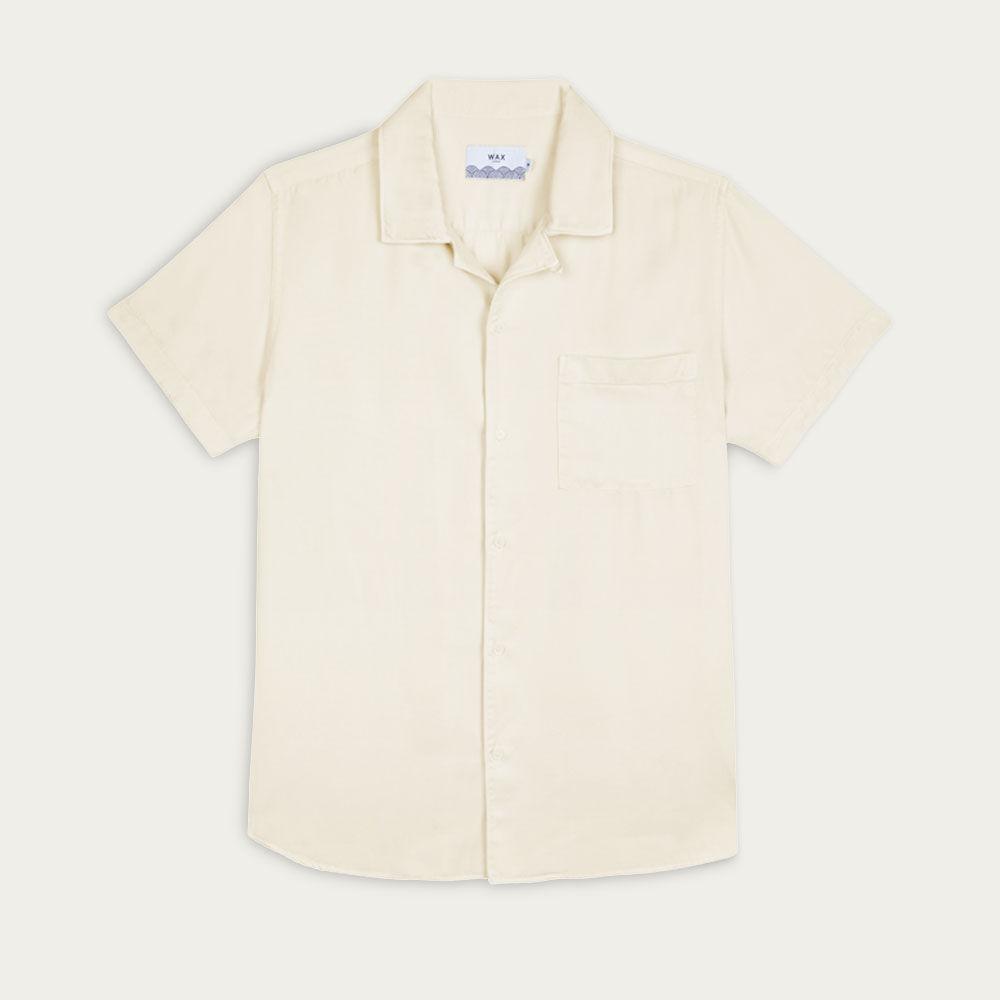 Light Clay Fazely Casual Short Sleeve Shirt  | Bombinate
