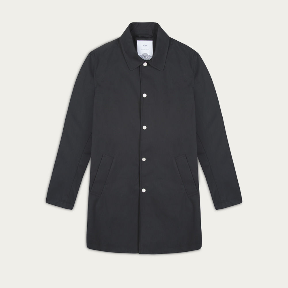 Black Navarino Waxed Mac 2.0  | Bombinate