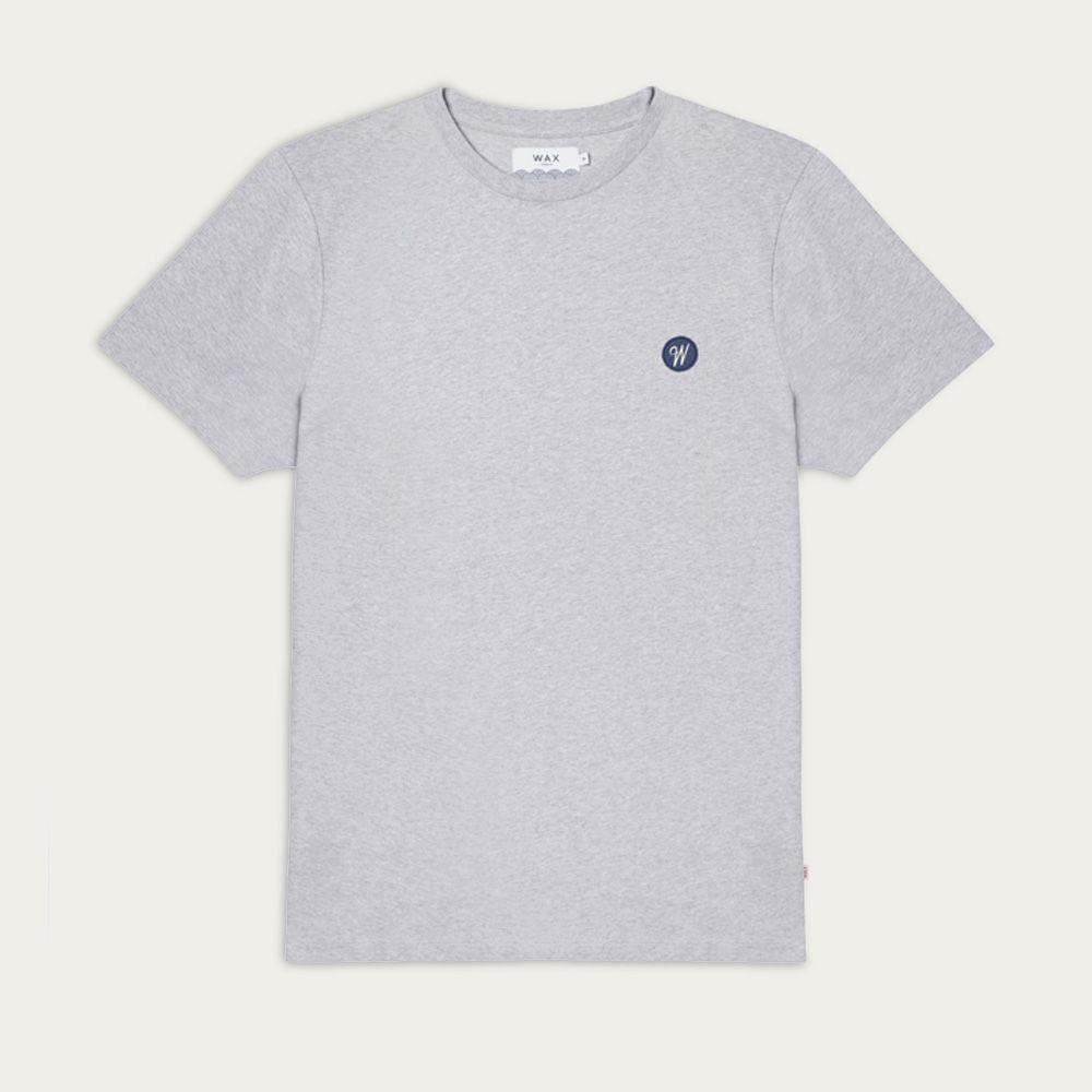 Grey Melange Reid Badge Logo T-shirt  | Bombinate