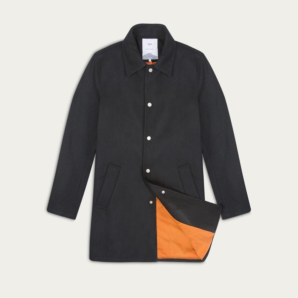 Black Wool Wilton Coat  | Bombinate