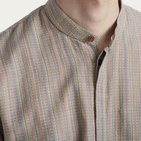 Ethnic pattern Mandarin Collar Shirt | Bombinate