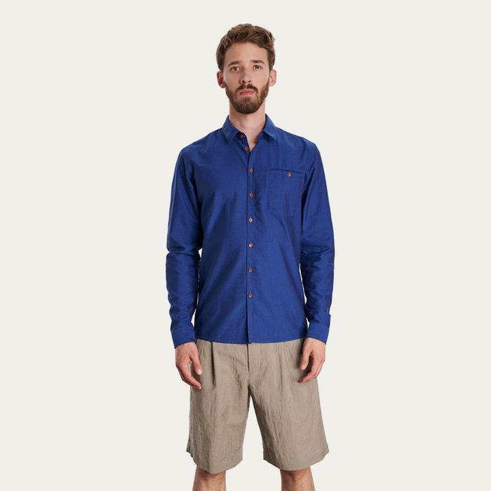 Cobalt Blue Slim Fit Shirt | Bombinate