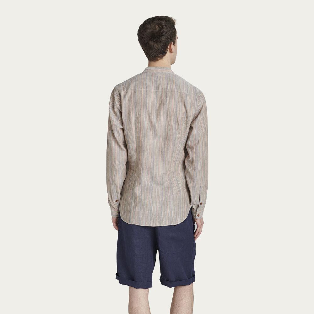 Ethnic pattern Mandarin Collar Shirt | Bombinate