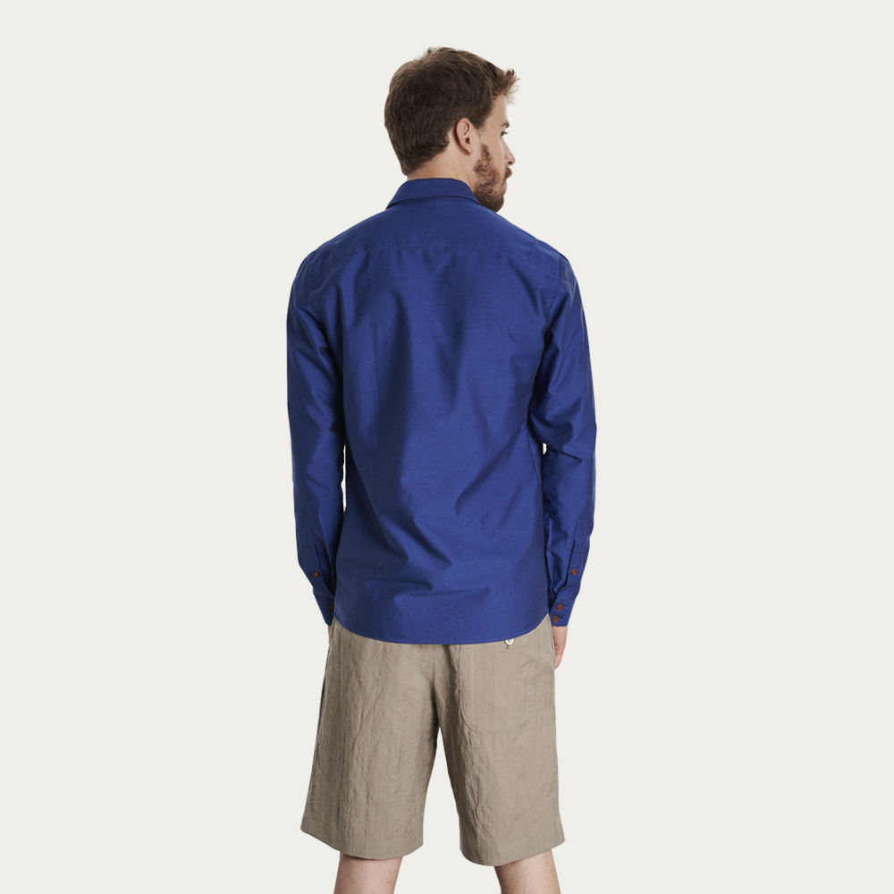 Cobalt Blue Slim Fit Shirt | Bombinate