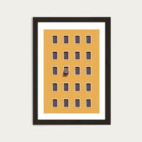 Open Mind Art Print Black Frame   Bombinate