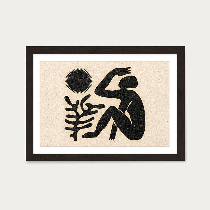 Blinding Sun Art Print Black Frame | Bombinate