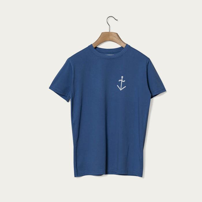 Blue Dantas Ecru Logo T-Shirt | Bombinate